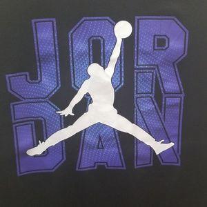 Jordan Shirts & Tops - Jordan long sleeve black dri-fit tshirt boys sz L